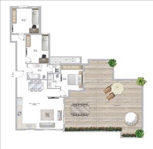 פנטהאוז למכירה 3 חדרים בפתח תקווה בלפור
