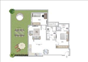 דירת גן למכירה 3 חדרים בפתח תקווה בלפור