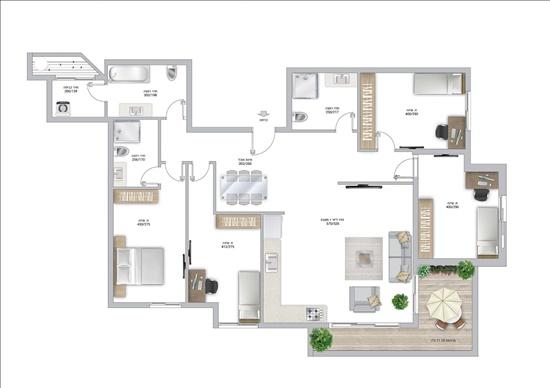 דירה למכירה 5 חדרים בפתח תקווה מרכז בלפור