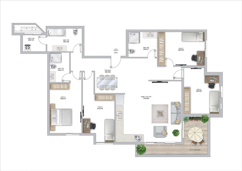 דירה למכירה 5 חדרים בפתח תקווה בלפור