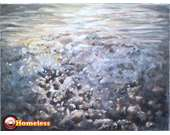 nurit shany, SEA 2,oil on canvas, 150X100cm