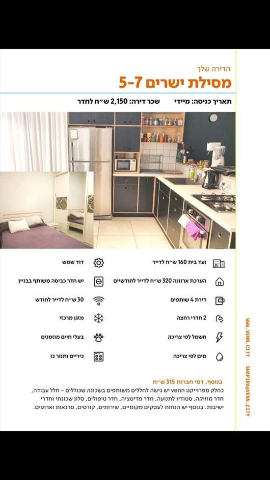 דופלקס לשותפים 5.5 חדרים בתל אביב יפו מסילת ישרים