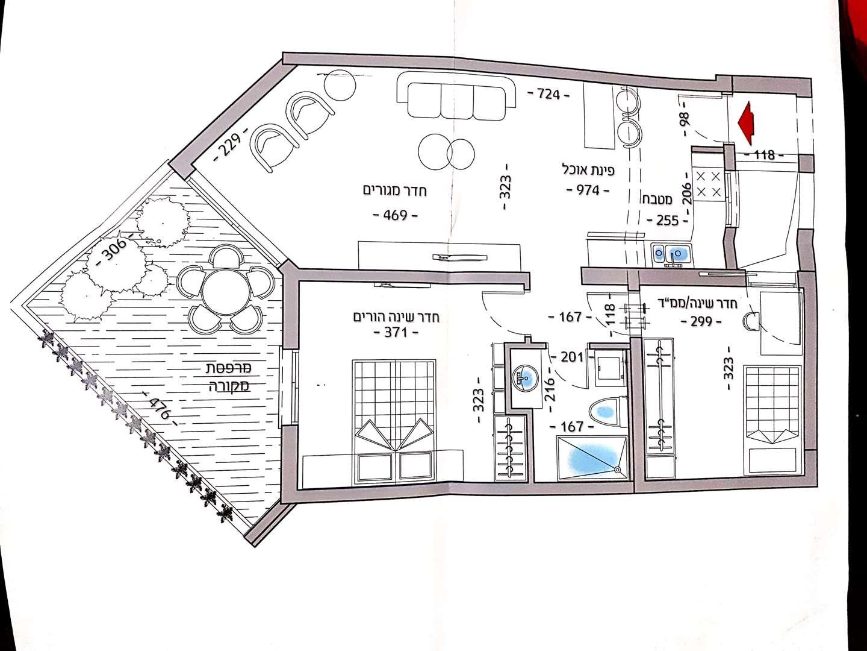 דירה, 3 חדרים, יפה נוף, אשקלון