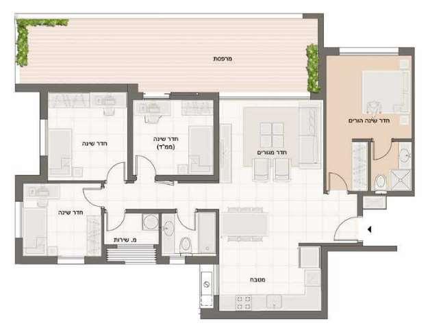 דירה, 5 חדרים, אביטל, חריש