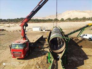 משאיות וולוו גורר תומך מנוף 150 טון