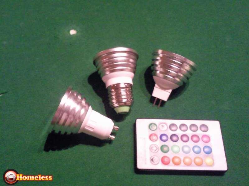 תמונה 2 ,נורת לד נשלטת משלט למכירה בירושלים מוצרי חשמל  תאורה ונברשות