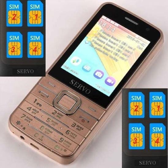 טלפון סלולרי חדש תומך ב 4 סימי