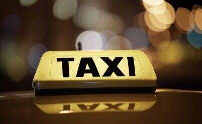 שלט של מונית