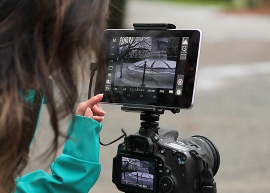 מוניטור למצלמת DSLR+סוללה