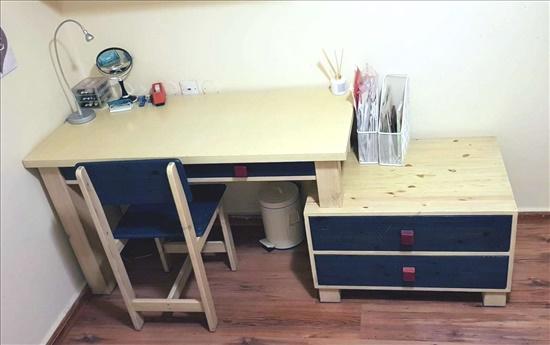 שולחן+ כוורת + מדף - עץ מלא