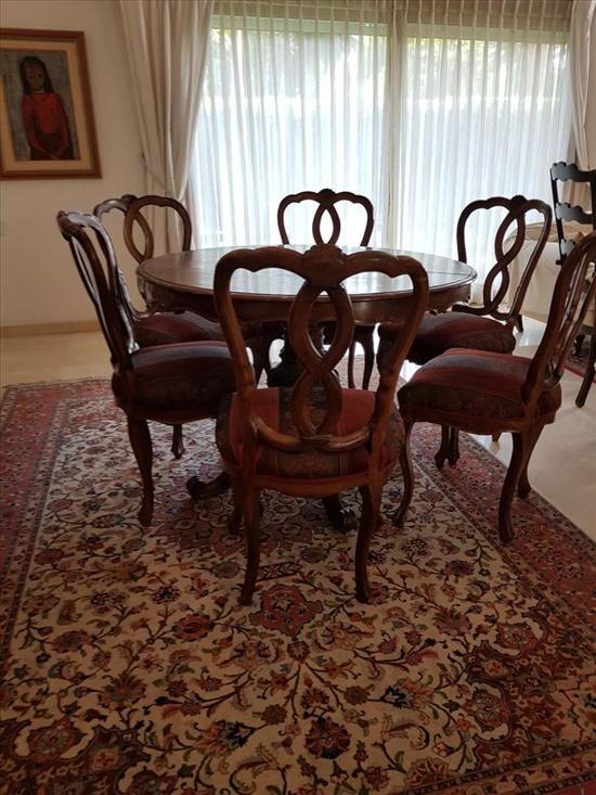 סט שולחן אוכל +6 כיסאות
