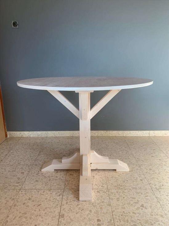שולחן עץ עגול קוטר 90 ס