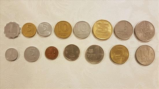 סט מטבעות ישראל משנות ה-70-80