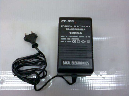 שנאי 220V/110V הספק 120VA