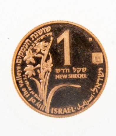 מטבע זהב ״הצבי והשושנה״