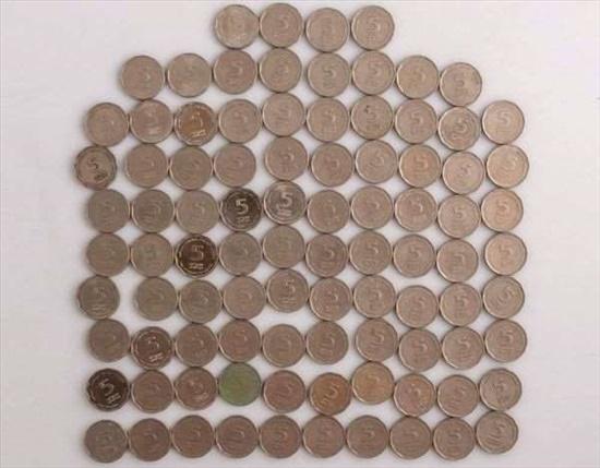 מטבעות 5 ₪ לוי אשכול וחיים ויצ